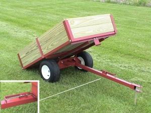 Utility Dump Wagons | Trailers for ATV, lawn and garden by