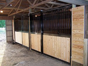 modular horse stall front