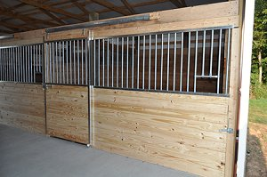 galvanized horse stall front